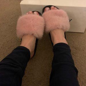 Authentic Givenchy Mink Fur Slides(Pink)